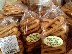 Taralli, biscuit salé aperitif originaire des Pouilles
