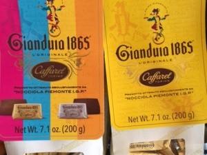 ballotin chocolat gianduia piémont, tendre chocolat noisette et chocolat noir